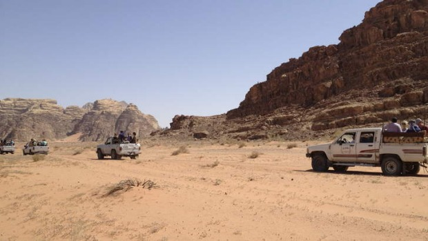 Starkly impressive: Wadi Rum is all sand, canyons and mountains of granite and sandstone.