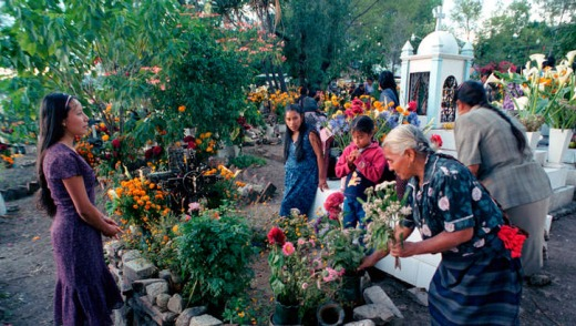 Day of the Dead ceremonies at Teotitlan del Valle, Mexico.