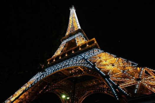 The sparkling Eiffel Tower. Every evening from sunset until 2am, for five minutes on the hour, the Eiffel Tower sparkles ...