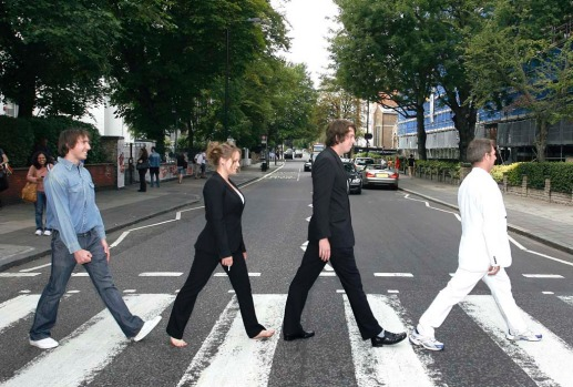 Abbey Road. Can you imagine working near Abbey Road in London? Every single day you'd have to spend hours in traffic ...