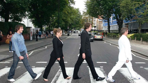 "Abbey Road. Can you imagine working near Abbey Road in London? Every single day you'd have to spend hours in traffic jams while tourists recreate ""that"" Beatles album cover on the pedestrian crossing. Beep-beep, beep-beep, yeah."