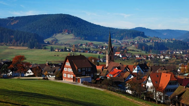 The German town of Baiersbronn, home to 16,000 residents and seven Michelin stars.