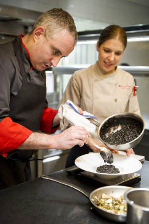 Chef Jeremy Bearman and dietician Kristy Lambrou of New York's Rouge Tomate, where the emphasis is on nutrition and ...