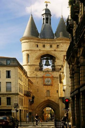 Vintage town: Bordeaux's Grosse Cloche bell tower and the former St Eloi town gate.