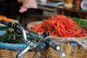 shd travel unscheduled 2013 Bangkok cycling tour text by Elspeth Callender  13. Exploring local markets (image supplied ...