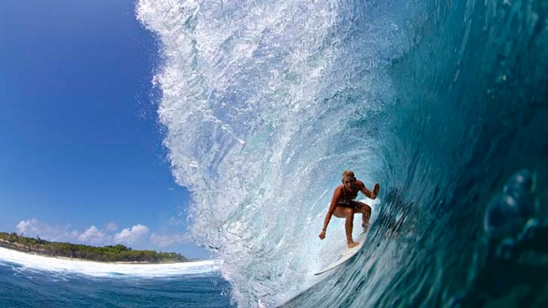 Surf guide Amy Kotch takes on one of the world's great left-hand breaks, Lohis, in the Maldives.
