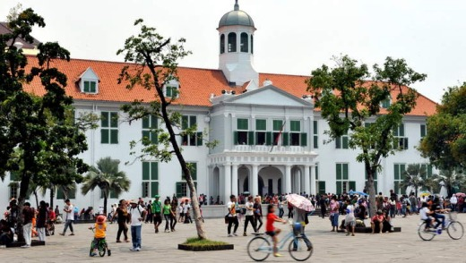 Jewels of Jakarta: the Fatahillah museum in the old town.