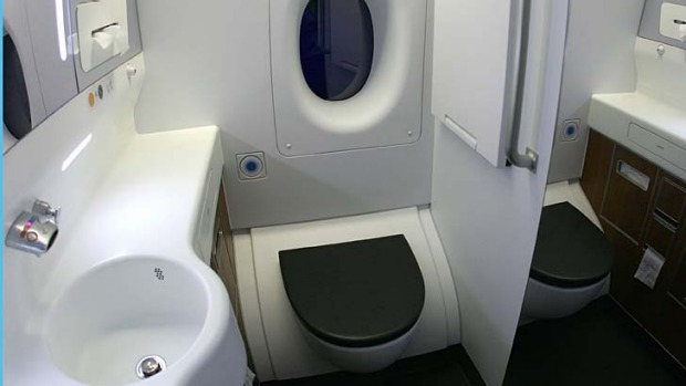 No longer a mystery ... what happens when you flush a plane toilet?