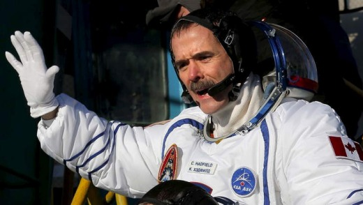 Veteran astronaut ... Chris Hadfield has developed a huge following in social media.