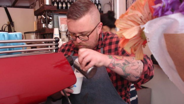 Coffee culture: a brew coming up at the Bluebird Coffee Shop.