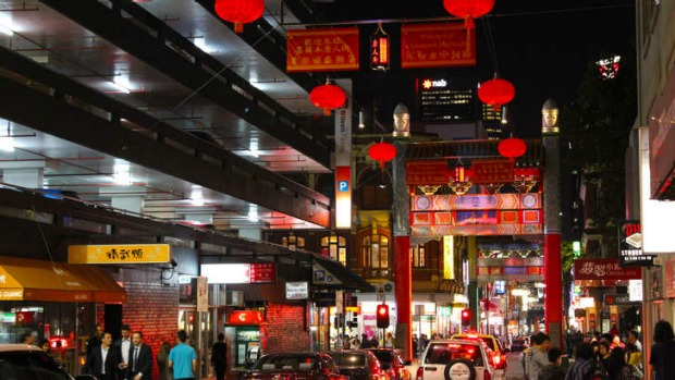 Delightful: Red lanterns in Chinatown.