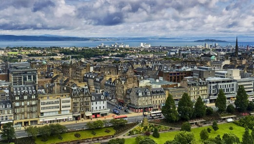 City escape: The skyline of Edinburgh.