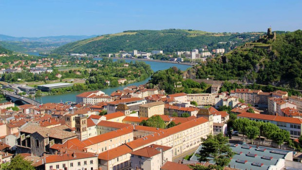 Provence: The town of Vienne on the Rhone south of Lyons