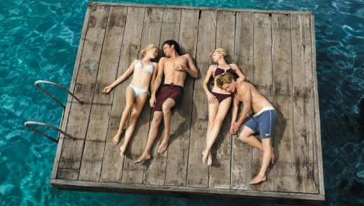 Lil (Naomi Watts), Tom (James Frecheville), Roz (Robin Wright) and Ian (Xavier Samuel) in a scene from Adoration.