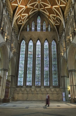 The 23-metre tall Great East Window.