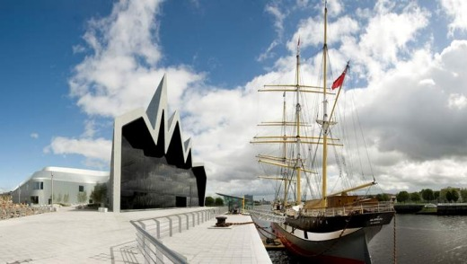 Riverside museum and tall ship.
