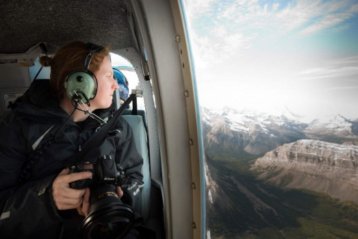 Professional Instagrammer Lauren Bath at work in Alberta, Canada.