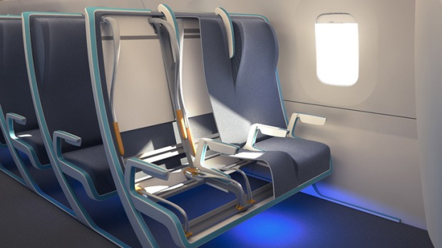 Accommodating: the Seymourpowell airline seat design.