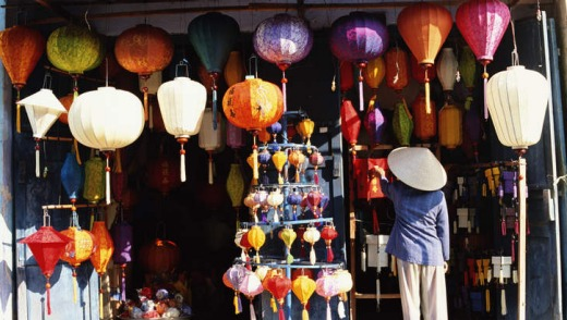 Light and bright: a lantern shop in Hoi An.