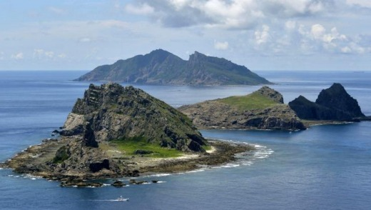 The disputed islands in the East China Sea known as the Diaoyu by China and the Senkaku by Japan.