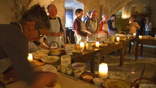 A cooking class at Santo Stefano.