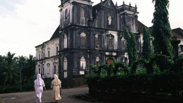 The church and convent of St John of God in old Goa.