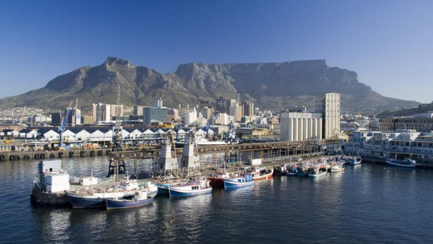 Overlooked: Table Mountain looms over Cape Town.