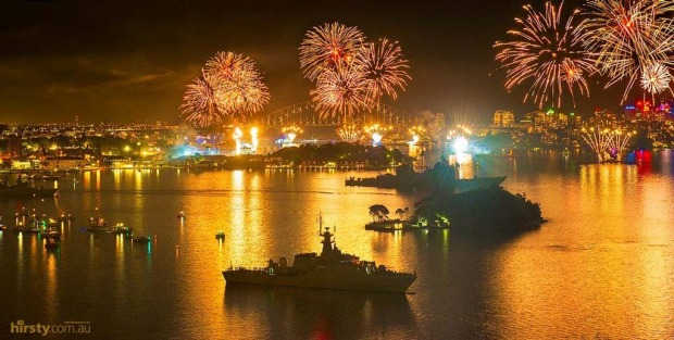 10. The International Fleet Review 2013 which happened tonight on the Sydney harbour was captured in this stunning pic ...