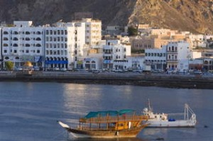 A dhow in Mutrah harbour, Muscat.