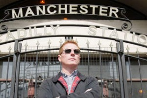 Former Inspiral Carpets drummer, now Manchester Music Tours owner Craig Gill.