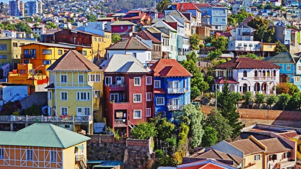 The colours of Valparaiso, Chile.