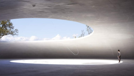 The museum is art at Teshima island, in Japan's inland sea.