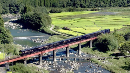 The train passes through Kyushu.