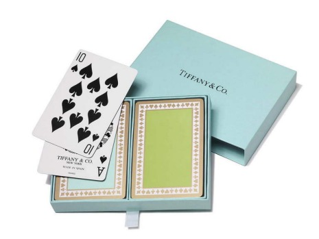Playing cards by Tiffany & Co., $40, tiffany.com.au.