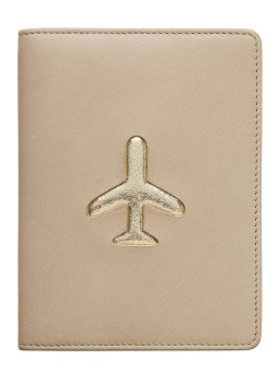 Leather passport wallet by Seed, biscuit, $39.95, seedheritage.com.