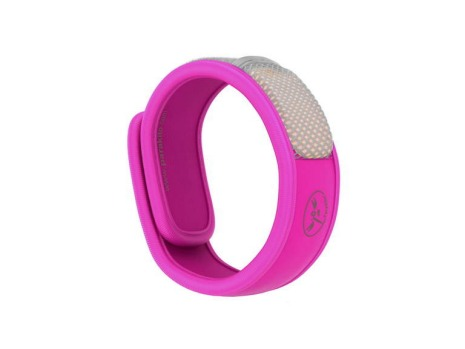 100 per cent natural mosquito and insect protection band by Para kito, pink & orange, $24.95, au.parakito.com.