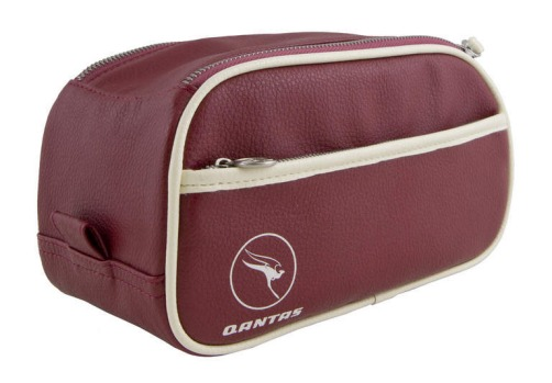 Qantas retro toiletry case, $39.95, flight001.com.au.