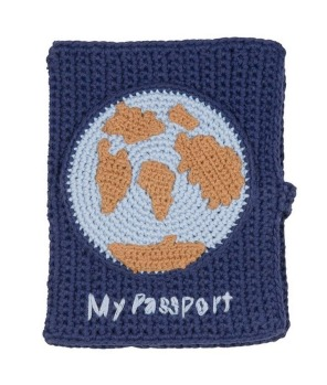Crochet passport holder, $30, ladedahkids.com.au.