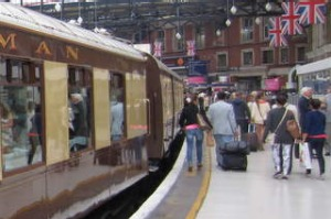 Pullman carriage at Victoria Station