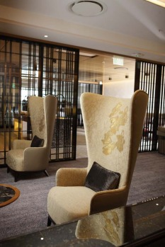 The lounge also includes personal spaces such as a living room.
