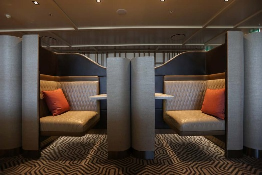 Singapore Airlines' new lounge design, now open at Sydney Airport, features productivity pods allowing guests to work in ...