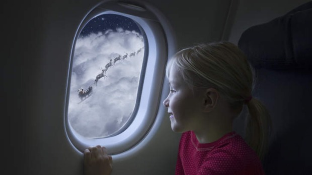 Spying eight tiny reindeer ... some people will be flying on Christmas Day.