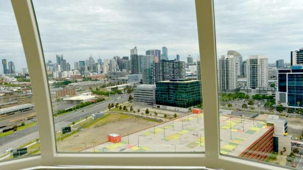 The view from the Melbourne Star Observation Wheel. Many of the sights featured in the on-board commentary can't be seen ...