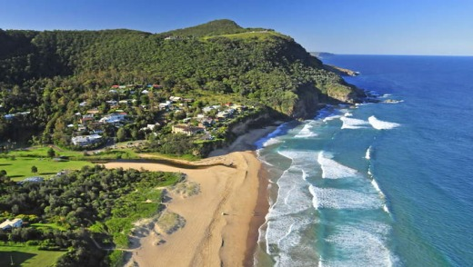 By the sea: Stanwell Park Beach Reserve.