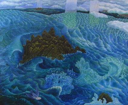 "Gordon Robinson ""After the Rain"" oil on canvas from the <i>Time & Tide</i> exhibition at Gallery Bodalla in 2011."