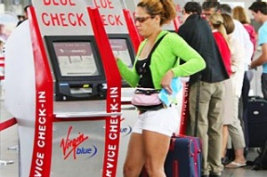 Check in kiosk, Virgin.