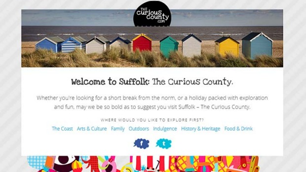 The Curious County website is still up and running, despite the much-criticised slogan being scrapped.