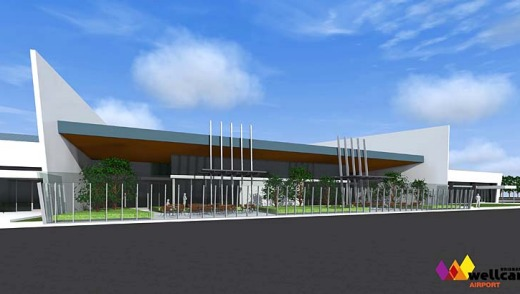An artist's impression of the terminal at Brisbane West Wellcamp Airport.