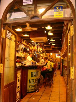 A traditional tapas bar.