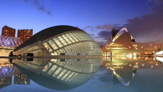 Sit back: Valencia's futuristic Arts and Science City.